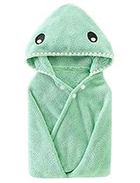 Ameyda 连帽法兰绒浴巾,适合 0-6 岁儿童