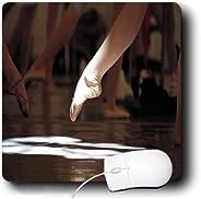 3dRose LLC 20.32 x 20.32 x 0.64 厘米鼠标垫,脚趾芭蕾聚光灯 (mp_100444_1)
