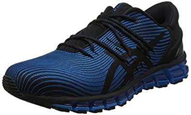 ASICS 亚瑟士 男 跑步鞋 GEL-QUANTUM 360 4 1021A028-400 蓝色/黑色 42.5