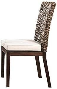 Panama Jack Sunrooms Sanibel Side Chair with Cushion Skyfall Navy