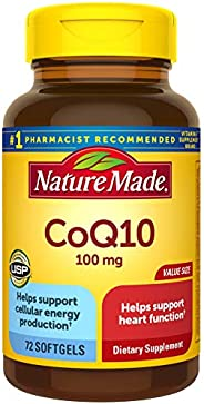 Nature Made CoQ10(辅酶 Q10)100 毫克72 粒软胶囊 超值装