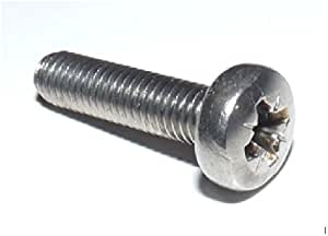 机器螺丝/螺栓镀锌 (BZP) 尖头螺钉 M6 6mm x 35mm(25 件装)
