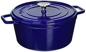 Gibson Home 108072.02 Elmington Cast Iron Dutch Oven, 5 quart, Gradient Blue