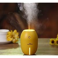 USB柠檬迷你加湿器创意爆款办公桌面家用加湿器 奇幻炫彩夜灯功能车载超声波雾化器8*8*11.2cm (黄色)