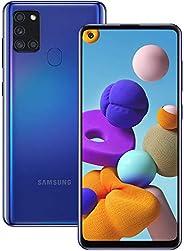 Samsung 三星 Galaxy A21S (64GB, 4GB) 6.5 英寸,四摄像头,全天电池双卡 GSM 解锁全球 4G LTE Volte (T-Mobile, AT&T, Metro, Straig