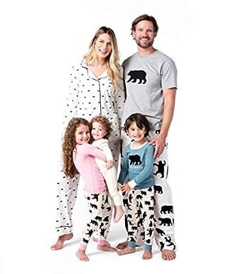 Little Blue House by Hatley Little Boys Kids Applique Top Pajama Set-Bearly Sleeping, Blue, 2