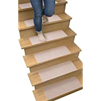 Sanko(三叶)走廊垫子·楼梯垫 45×22×0.3cm 不会滑动 吸附 楼梯垫 米色 45×22×0.3cm SG-53