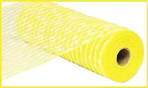 26.67 厘米 x 76.2 厘米棉球装饰涤纶网丝带