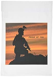 florene patriotic–战士在伊拉克–旗帜 12 x 18 inch Garden Flag