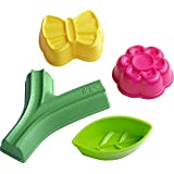 HABA Large Sand Gardening 4 Piece Set - Simply Ingenious: Sand Molds & Stamps All in One