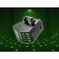 Eurolite D-25 *效果 适用于派对室,俱乐部,酒吧,迪斯科,6合1六色LED灯,多色和紫外线灯效果灯 | 频闪仪 | 音乐控制或汽车模式