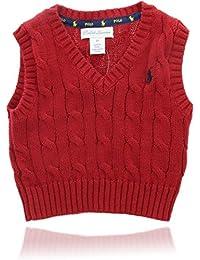 Polo Ralph Lauren 保罗拉夫劳伦设计师毛衣 V领(3个月),红色