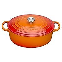 Le Creuset 铸铁椭圆形 casserole–volcanic