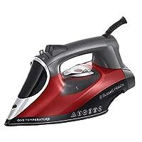 Russell Hobbs 25090-56 蒸汽熨斗 One 温度,单温度技术,陶瓷 - 涡轮 - 熨斗鞋底,可调蒸汽 0-50 克/分钟,蒸汽推力 210 克/分钟,黑色/红色