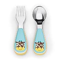 美国 SKIP HOP 可爱动物园餐具叉和勺 长颈鹿SH252359