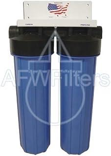 """20"""" 2 阶 Big Blue 过滤器系统含碳和活性铝过滤器(清除氯、氟化物、铅和砷),Abundant Flow Water 制造"""