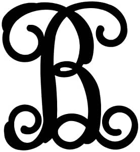 Next Innovations 18-Inch Ornate Monogram Wall Hanging, Large, Black, Letter B