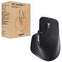 Logitech 罗技 MX Master 3 高级鼠标 黑色 商务版 [双连接,2.4GHz和蓝牙]