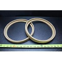 2 个 MDF 扬声器环形垫片 25.4 厘米边框木 2.54 厘米玻璃纤维外壳 RING-10BZ