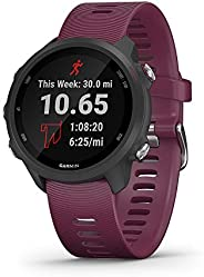 Garmin 佳明 Forerunner 245 跑步智能手表,高級動態設計010-02120-01 標準 紫紅色(Berry)