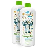 Babyganics 无*精泡沫洗手液补充装,16 盎司瓶(2 瓶装) 不含香料 16 0Z (PACK OF 2) 32