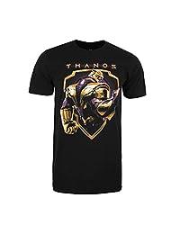 Marvel 男士复仇者Thanos 盾牌 T 恤