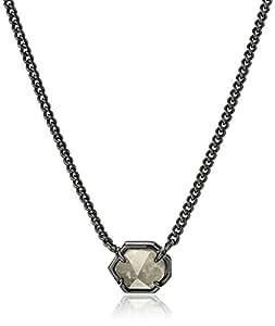 "Kendra Scott Mabel Gunmetal Mirror Rock Crystal 项链,15"" + 2"" 延长链"