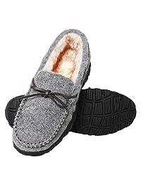 carebey 男式舒适乐福鞋室内户外软拖鞋女鞋