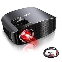 電影投影儀,ARTlii 高清投影儀 200 英寸高頭家庭影院投影儀 HiFi 立體聲 HDMI VGA AV USB MicroSD 電影,家庭娛樂 黑色 黑色 US-YG600B