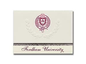 标志性公告 福德汉大学毕业公告,铂金风格,基本套装 20 带福德罕 U. 印章箔