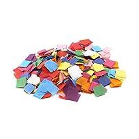 Hygloss Products 88725 出血纸巾 5.08cm 方形马赛克纸英寸,适用于艺术和工艺品、DIY 项目、教室活动等,颜色-2400 件,20 种混色