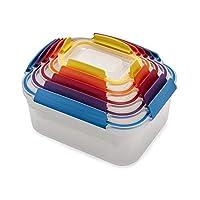 Joseph 81098 Nest Lock 塑料食品保鲜盒套装带可锁定防漏盖,多色 多种颜色 10-piece 81098