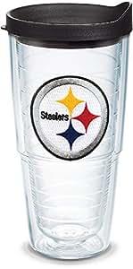 Tervis NFL 单独带盖玻璃杯 透明 24oz LBLK-I-24-PITT