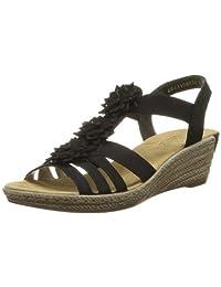 Rieker 62461,女式坡跟高跟凉鞋