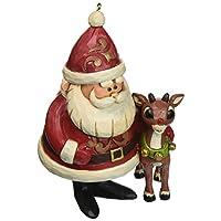 "Jim Shore""Rudolph the Red-Nosed Reindeer""传统,50 周年纪念石树脂装饰品,10.80 cm"