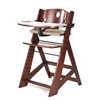 Keekaroo高度合适的带餐盘儿童餐椅 红褐色 无尺寸