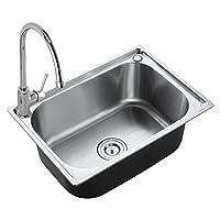 ENZORODI 德国安住 全铜无铅高抛冷热厨房龙头304不锈钢一体拉伸单槽水槽套装 ERK50133E(品牌客服热线:4007-888-758,品牌企业QQ:1293227675)