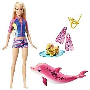 Barbie 芭比 娃娃玩具 之海豚魔幻历险记娃娃 FBD63