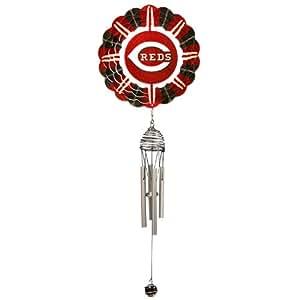 Iron Stop MLBDCH215C-7R1 Wind Chime, Cincinnati Reds