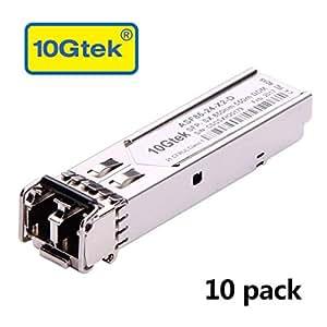 10G/1G SFP 收发器模具,X件装ASF85-24-X2(Ubiquiti-10pcs) 1000Base-SX: 550m