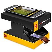 KODAK 移动胶片扫描仪 – 扫描和保存旧的 35 毫米电影和幻灯片 带智能手机相机 – 便携式、可折叠扫描仪,带内置 LED 灯和免费移动应用程序,用于扫描、编辑和共享照片
