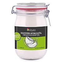 mituso 生态椰子油,1包(1×1000毫升)密封玻璃罐装