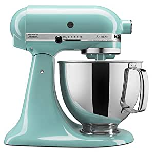 KitchenAid 凯膳怡 KSM150PSAQ Artisan系列 5-Qt. 立式搅拌机 带倾倒挡板- 天蓝色 需配变压器