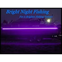 Bright Night Fishing 16ft UV 船灯黑色 LED 荧光线发光紫外线 12v 夜间钓鱼鲈鱼