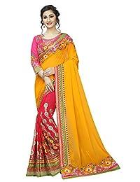 Riva 时尚纱丽 女式 L 码印度婚礼民族服饰纱丽和衬衫。