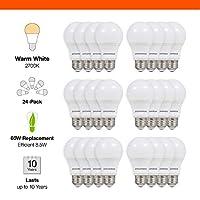 SYLVANIA,相当于 60 瓦,LED 灯泡,A19 灯,2 只装,柔白色,节能,使用寿命更长,中灯,* 8.5W,2700K 柔和白色 24 Pack 74765