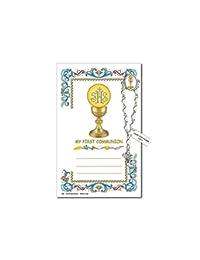 Needzo 我的*个圣餐十年念珠翻领针,祈祷卡,12.7 cm