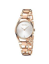 Calvin Klein 卡尔文克莱恩 美国品牌 石英女士手表 镶钻玫瑰 K7L2364T