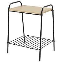 roomnhome(家居)侧桌 黑色 46.5 × 35 × 29.5 cm 双层