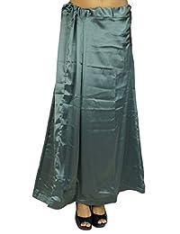 iba,印度缎面丝绸衬裙,宝莱坞纯色内裙衬里,适用于 Sari 女士服装